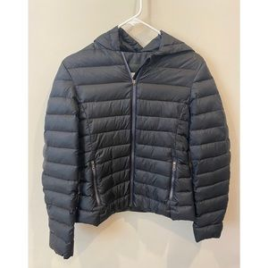 Lacoste Down Puffer Coat With Hood